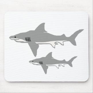 Cojín de ratón del tiburón de Bull Tapete De Ratones