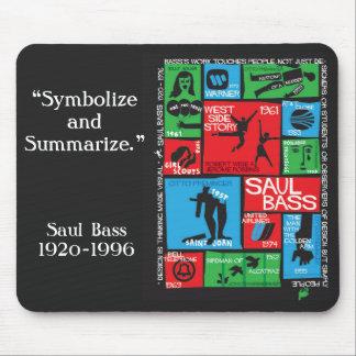 Cojín de ratón del tributo de Saul Bass Alfombrilla De Ratones