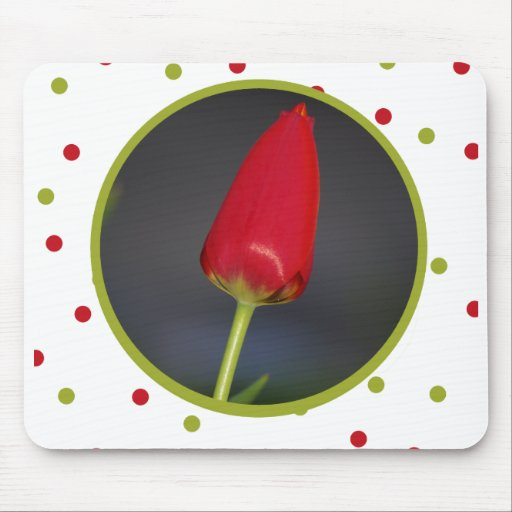 Cojín de ratón del tulipán tapete de ratón