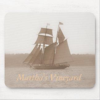 Cojín de ratón del velero del Martha s Vineyard Tapetes De Raton