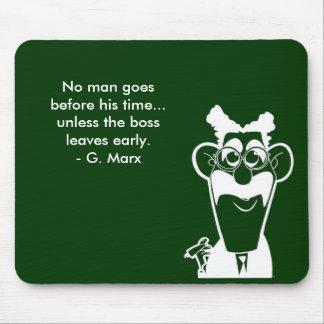 Cojín de ratón del verde de la cita de Groucho Mar Alfombrillas De Ratones
