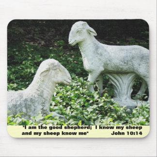 Cojín de ratón del verso de la biblia de las oveja mousepad