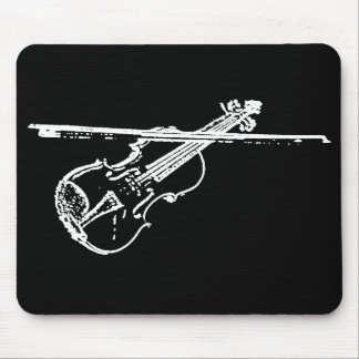 Cojín de ratón del violín - torcido/erosionó - B/W Alfombrillas De Raton