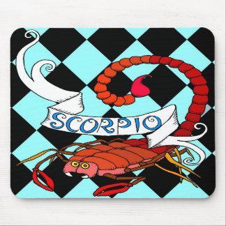 Cojín de ratón del zodiaco del escorpión tapete de raton
