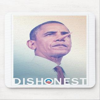 Cojín de ratón deshonesto de Barack Hussein Obama  Tapetes De Ratones