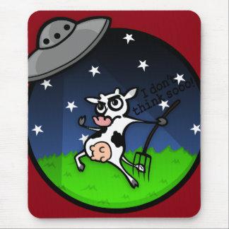 COJÍN DE RATÓN DIVERTIDO DE LA ABDUCCIÓN DEL UFO ALFOMBRILLAS DE RATÓN