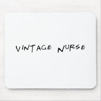 Cojín de ratón divertido de la enfermera del vinta tapete de ratones
