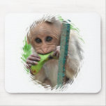 Cojín de ratón divertido de la imagen del mono tapete de ratones