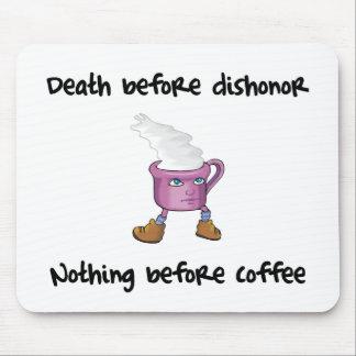 Cojín de ratón divertido del amante del café alfombrilla de raton