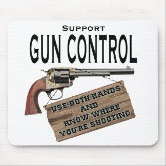 Cojín de ratón divertido del control de armas #2 tapetes de raton