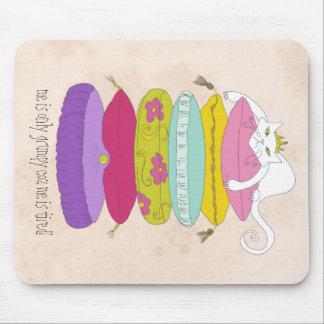 Cojín de ratón divertido del dibujo animado del ga alfombrillas de ratones