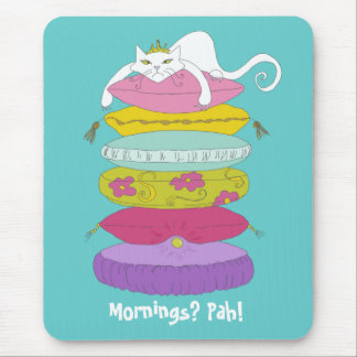 Cojín de ratón divertido del dibujo animado del ga tapete de ratones