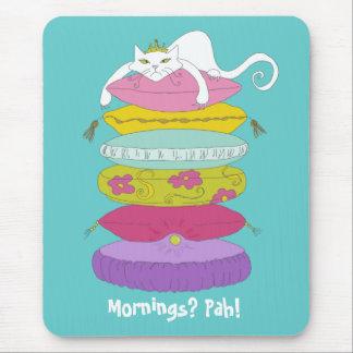 Cojín de ratón divertido del dibujo animado del ga tapetes de ratón