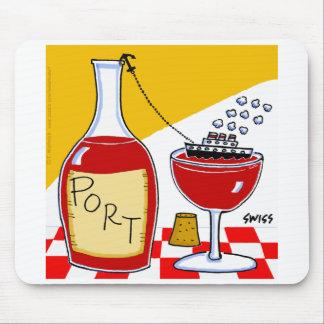 Cojín de ratón divertido del vino de Oporto Mouse Pad