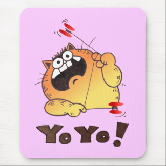 Cojín de ratón divertido del YOYO del gato del Alfombrilla De Raton