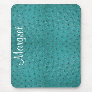 Cojín de ratón elegante de la mirada del cuero de tapetes de ratones