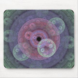 Cojín de ratón en colores pastel del fractal del a alfombrilla de ratón
