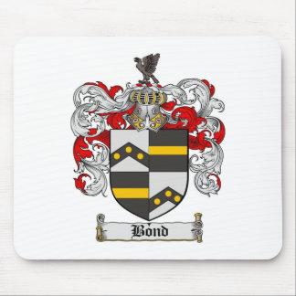 Cojín de ratón en enlace del escudo de la familia alfombrillas de raton