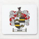Cojín de ratón en enlace del escudo de la familia tapete de ratón