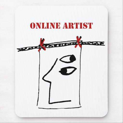 Cojín de ratón en línea del artista alfombrilla de ratón