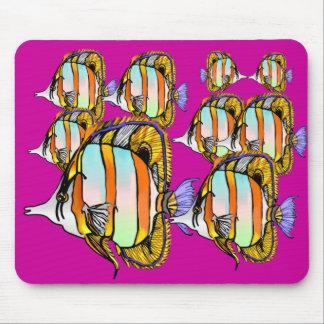 Cojín de ratón enmascarado de los pescados de la m alfombrillas de ratón