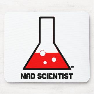 Cojín de ratón enojado del científico alfombrillas de ratones
