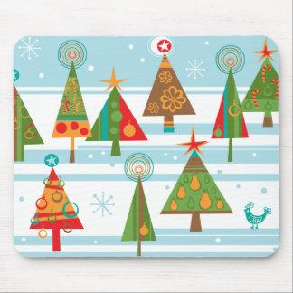 Cojín de ratón enrrollado del árbol de navidad tapetes de raton