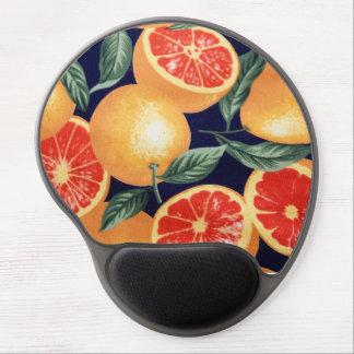 Cojín de ratón ergonómico de los naranjas retros alfombrilla con gel