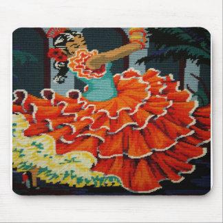 Cojín de ratón español del bailarín del flamenco tapete de ratón