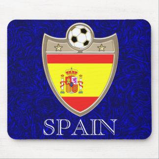 Cojín de ratón español del fútbol tapetes de raton