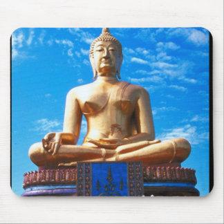 Cojín de ratón espiritual del templo indio de Buda Tapetes De Raton