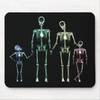 cojín de ratón esquelético de la radiografía mouse pads