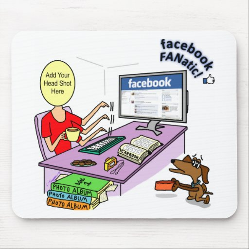 Cojín de ratón fanático de Facebook Tapetes De Raton