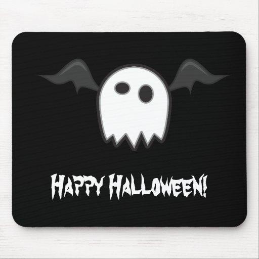 Cojín de ratón fantasmal del feliz Halloween del p Alfombrilla De Ratón