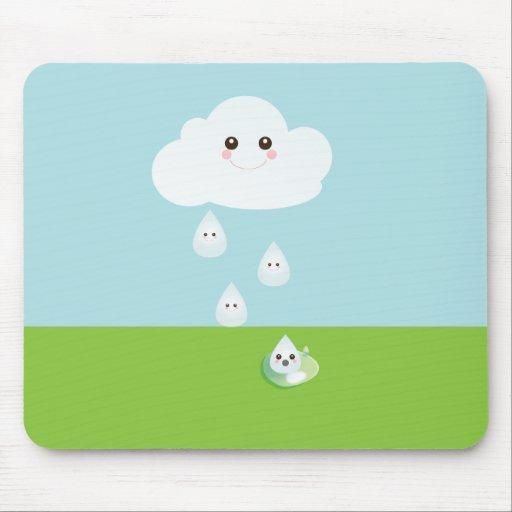 Cojín de ratón feliz de la nube alfombrilla de ratones