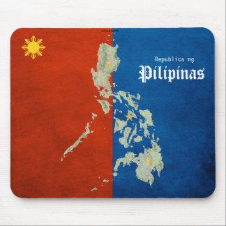 Cojín de ratón filipino del mapa