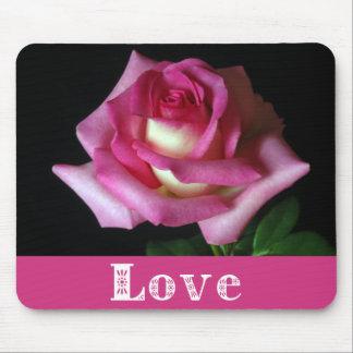 Cojín de ratón floral color de rosa rosado del tapete de ratón