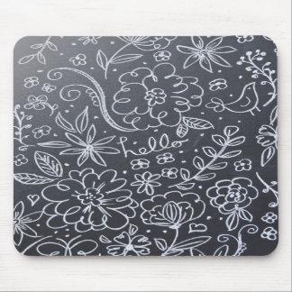 Cojín de ratón floral de la pizarra tapete de ratones
