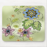 Cojín de ratón floral de la primavera tapete de ratones
