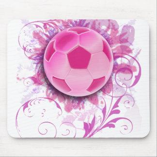 Cojín de ratón floral del fútbol del Grunge de las Alfombrilla De Ratones