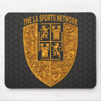 Cojín de ratón floral del logotipo del oro de TLAS Tapete De Ratón
