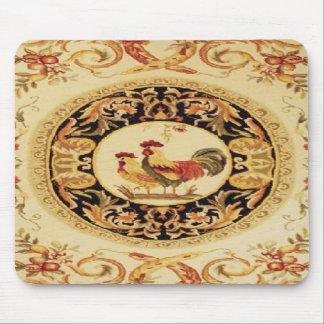 Cojín de ratón francés del diseño del gallo y de l alfombrillas de ratones