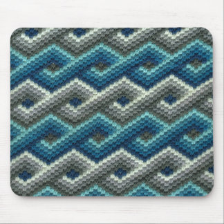Cojín de ratón geométrico azul y gris del encaje d alfombrillas de ratones