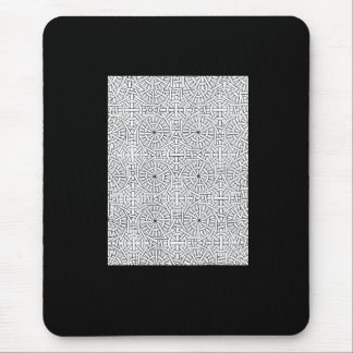 Cojín de ratón geométrico blanco negro del modelo tapete de ratón