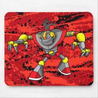 Cojín de ratón gigante del guerrero del Cyborg del Tapetes De Raton