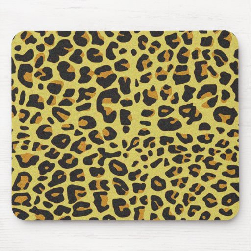 Cojín de ratón gráfico de la piel del leopardo tapete de ratón