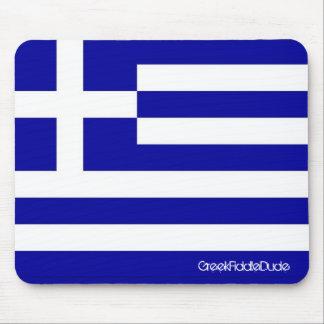 Cojín de ratón griego de la bandera tapete de raton