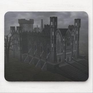 Cojín de ratón gris del castillo tapete de ratón
