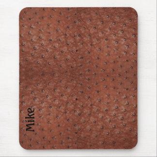 Cojín de ratón hermoso de la mirada del cuero de l alfombrillas de ratón