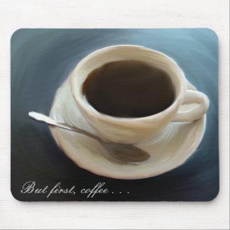 Cojín de ratón hermoso del café del café alfombrilla de ratones